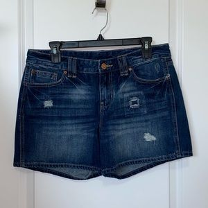 GAP distressed jean shorts in excellent condition.
